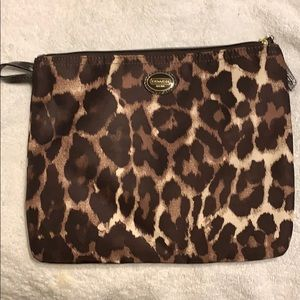 Coach leopard makeup bag